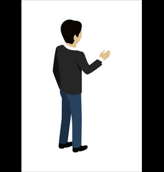 man shaking hands vector image vector image