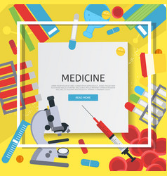 Medicine banner with flat icons vector