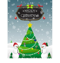 Merry Christmas and Happy New Year card background vector image