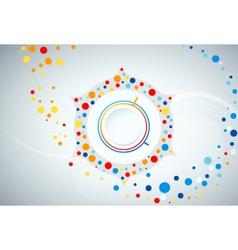 Modern button motion vector image