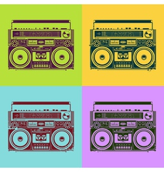 Old-school tape recorders vector image vector image