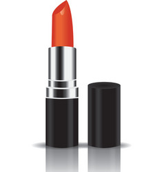 orange lipstick vector image vector image