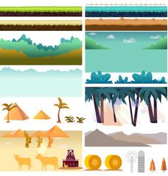 platformer game assetsset of game elements vector image vector image