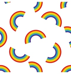 Rainbow seamless pattern vector