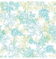 Scattered blue green branches seamless pattern vector