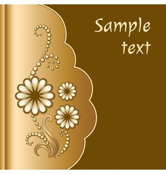 Scrapbook with jewelry flowers vector image vector image