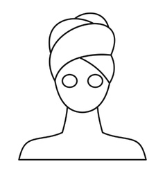 Spa facial clay mask vector image vector image