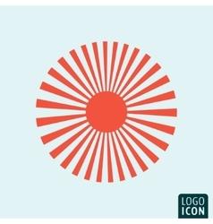 Sun icon template vector image