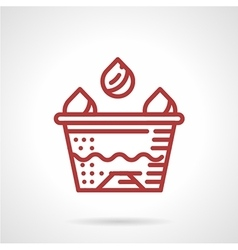 Tattoo ink cup red line icon vector