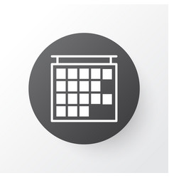 Timetable icon symbol premium quality isolated vector