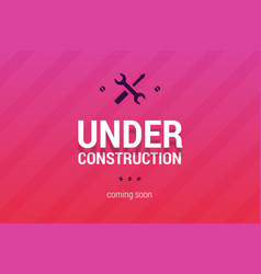 under construction with coming soon label vector image vector image