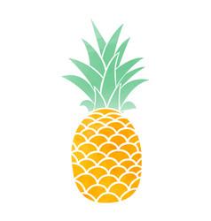 watercolor pineapple symbol vector image vector image