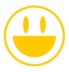 Yellow icon smiling face vector