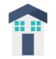 Home house exterior isolated icon vector