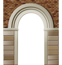 entrance with arch colored template vector image