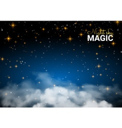 Night sky magic cloud holiday shining motion vector