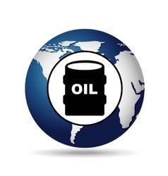 World oil industry consumption oil barrel vector