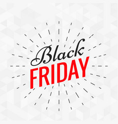 Black friday stylish text with lines effect vector