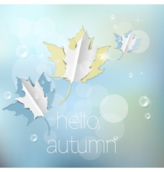 Autumn abstract nature background vector