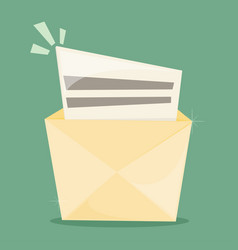 Flat mail icon vector