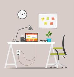 Modern workplace job concept vector