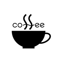 coffee cup lettering vector image