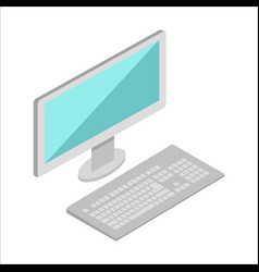 Computer in isometric projection vector
