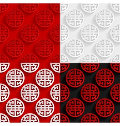 Set of traditional chinese seamless patterns vector
