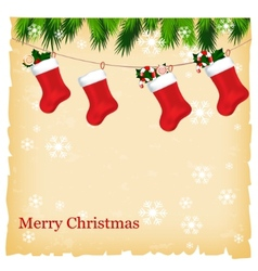christmas greeting card with place for your text vector image