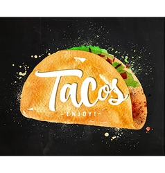 Tacos chalk vector image