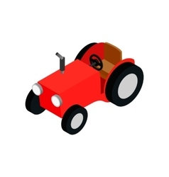 Red farmers car isometric 3d icon vector image