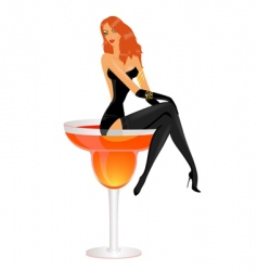 cocktail diva vector image