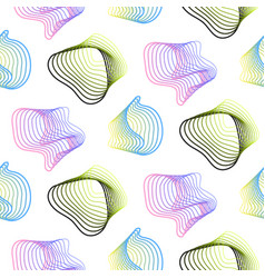 Abstract spiral lines seamless pattern vector