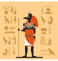 Anubis flat banner vector
