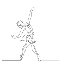 Ballerina in motion vector