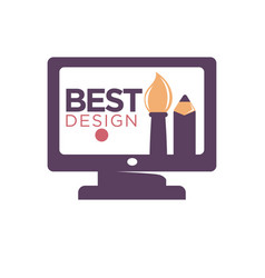 best design promotion logotype cartoon thick vector image vector image