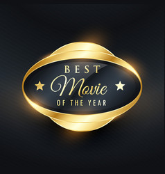 Best music of the year golden label and badge vector