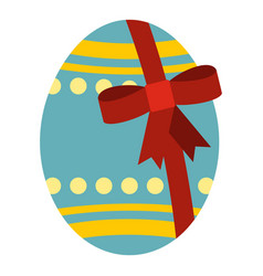 Big easter egg icon isolated vector