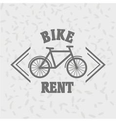 Bike rent logo concept bycicle rent badge bicycle vector