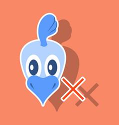 Chicken bird engraving drawn sticker vector