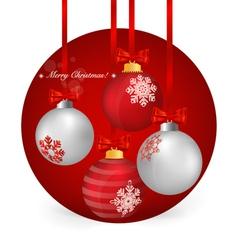 Christmas background with Christmas ball vector image