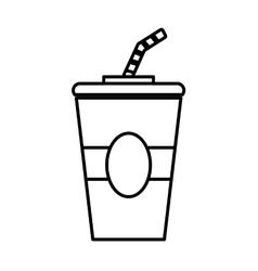 Coke icon fast food design graphic vector
