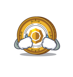 Crying komodo coin mascot cartoon vector
