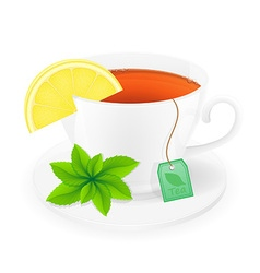 cup of tea 07 vector image vector image
