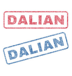 Dalian textile stamps vector