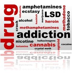 Drugs word cloud vector