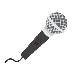 microphone flat icon music and instrument vector image vector image