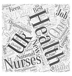 New recruitment rules for nhs nurses word cloud vector