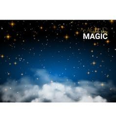 Night sky magic cloud holiday shining motion vector