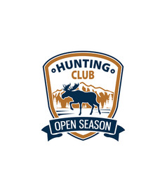 Open season animal icon for hunting club vector